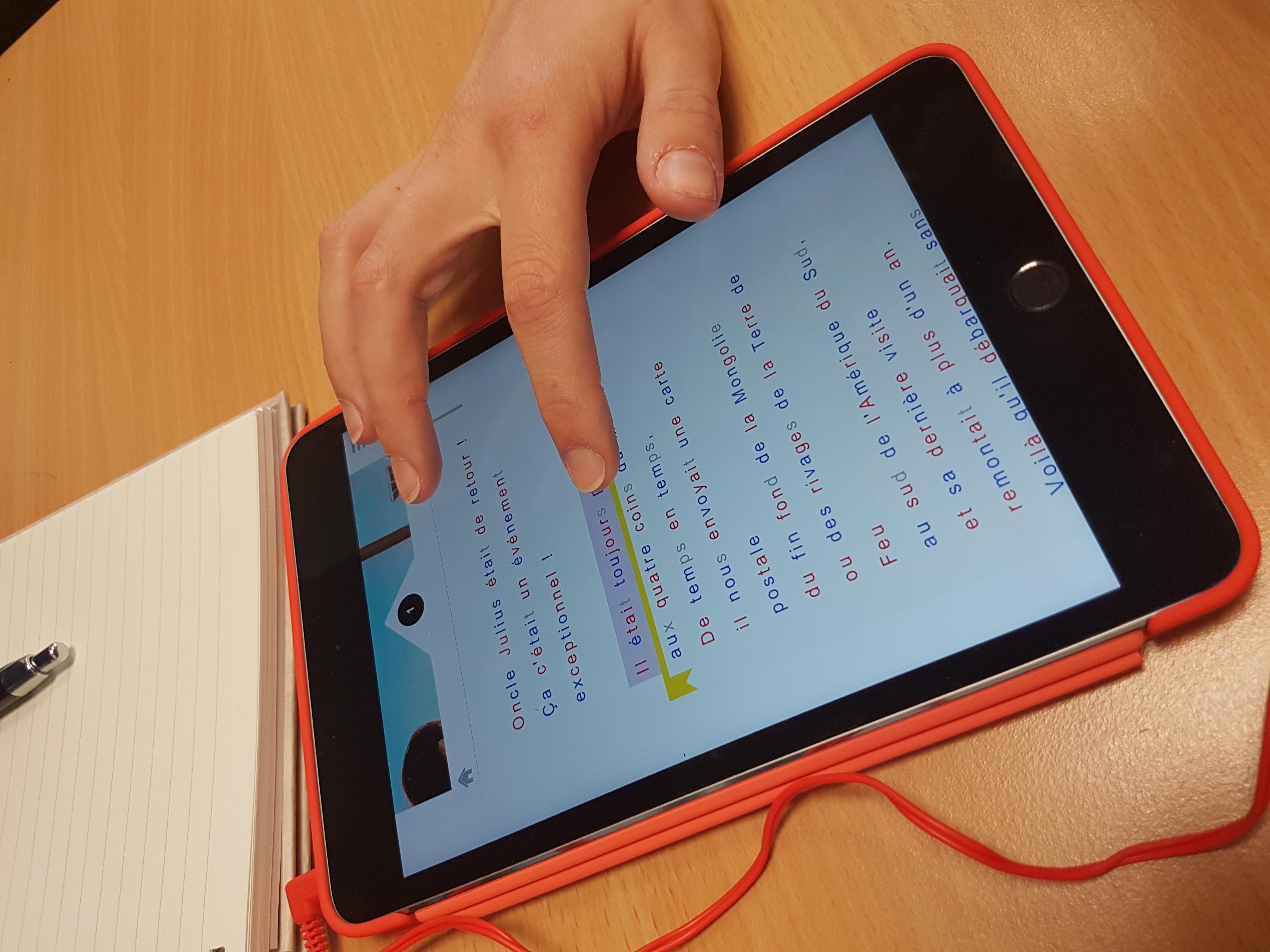photo tablette